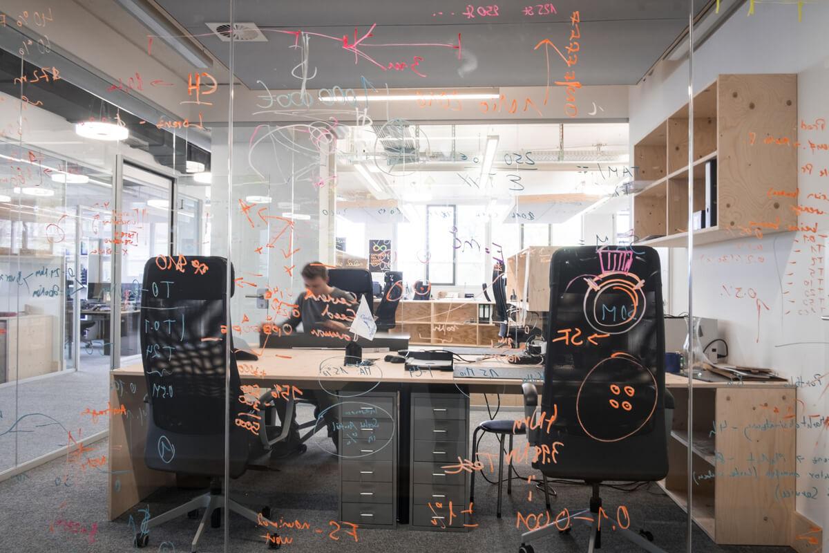 Gedankengänge Whiteboard Büroeinrichtung Konux Nobla Karlsruhe