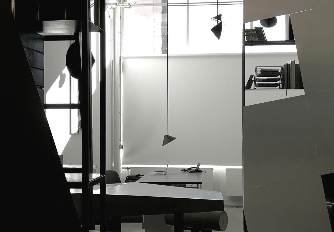 Weiser Büroraum WhiteBox München Innendesign Nobla Karlsruhe