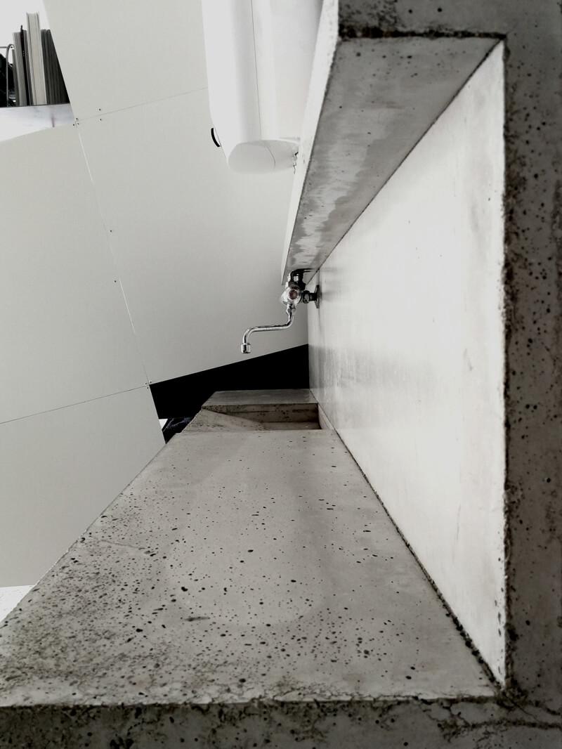 Küchenzeile Waschbecken Büro WhiteBox Nobla Design