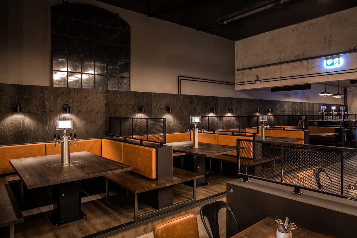 Sitzbänke Tischzapfanlagen Nobla Innenarchitekt