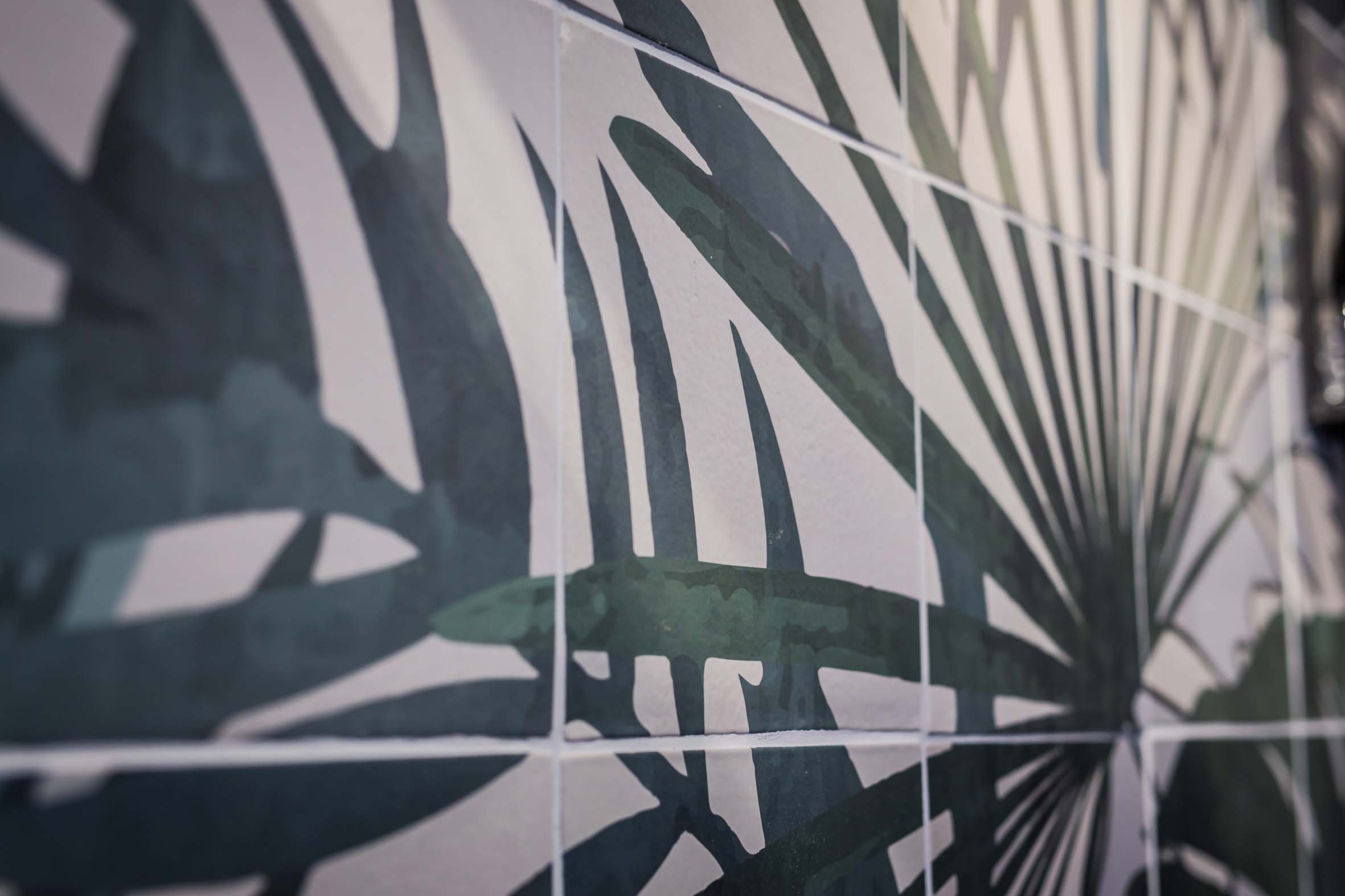 Tropical Design Wandmuster Innendesign Hellers Tea Bar Nobla Karlsruhe