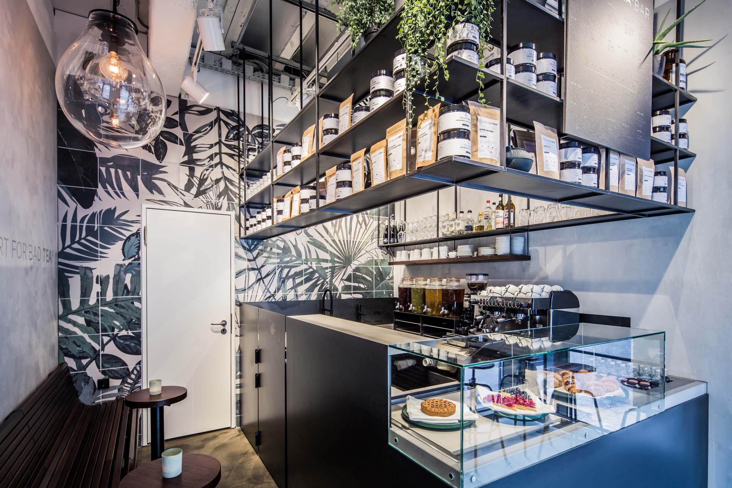 Innendesign Bestelltheke Hellers Tea Bar Nobla Raumplanung & Innenarchitektur für & aus Karlsruhe