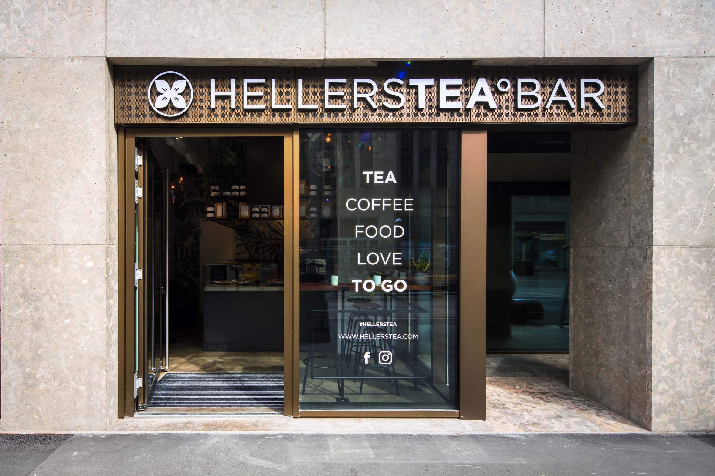 Location Eingangsbereich Hellers Tea Bar Nobla Raumkonzept Gastronomie