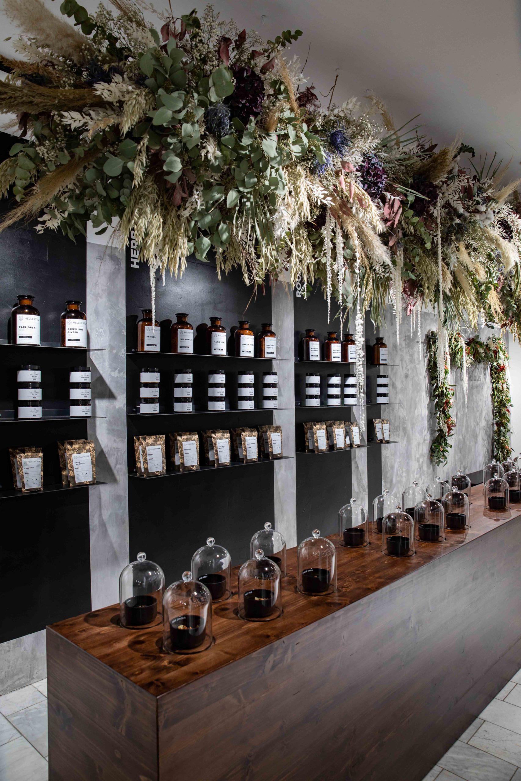 Hellers Tea Shop Räumlichkeit Nobla Ausstattung
