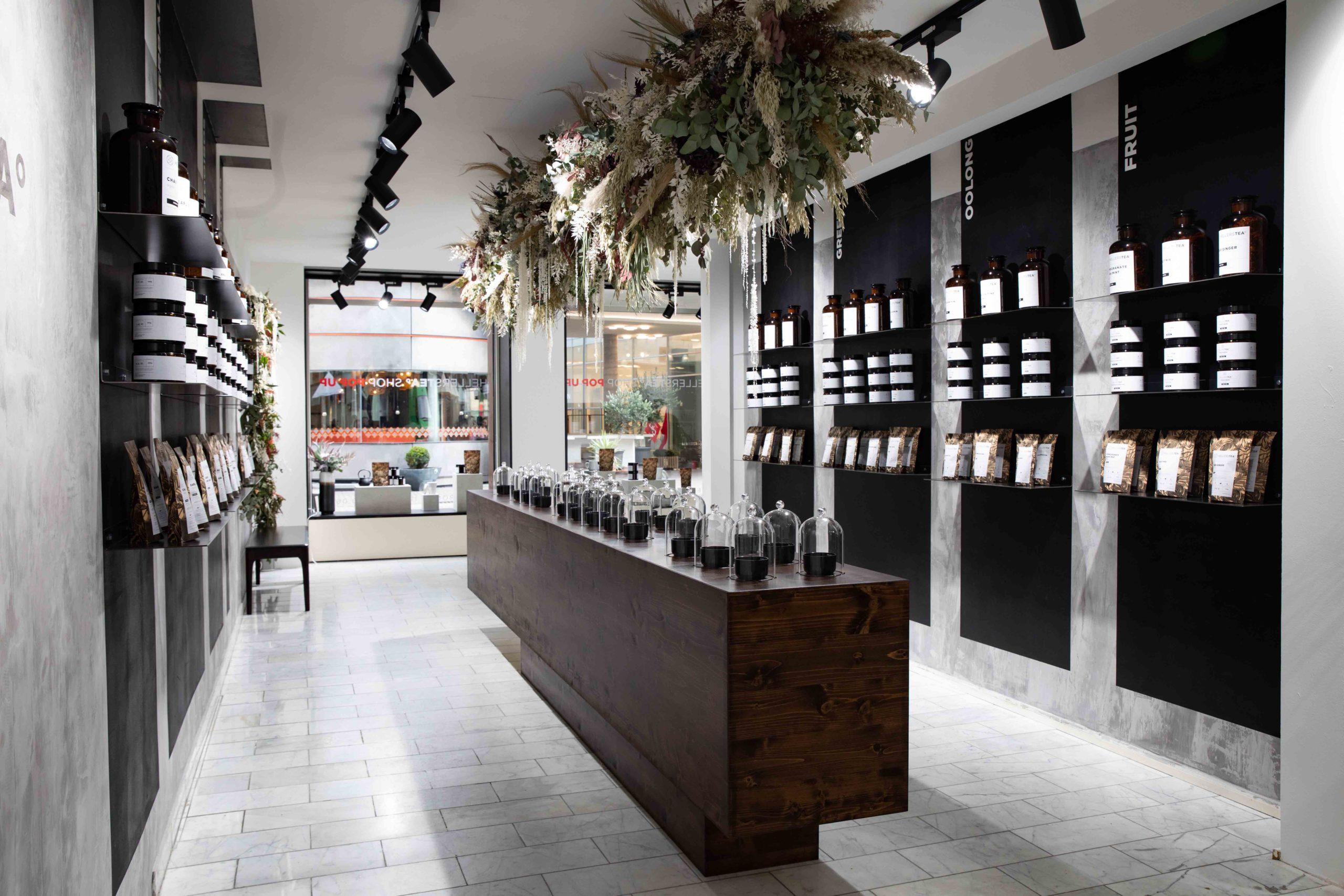 Räumlichkeit Hellers Tea Shop Nobla Raumausstattung