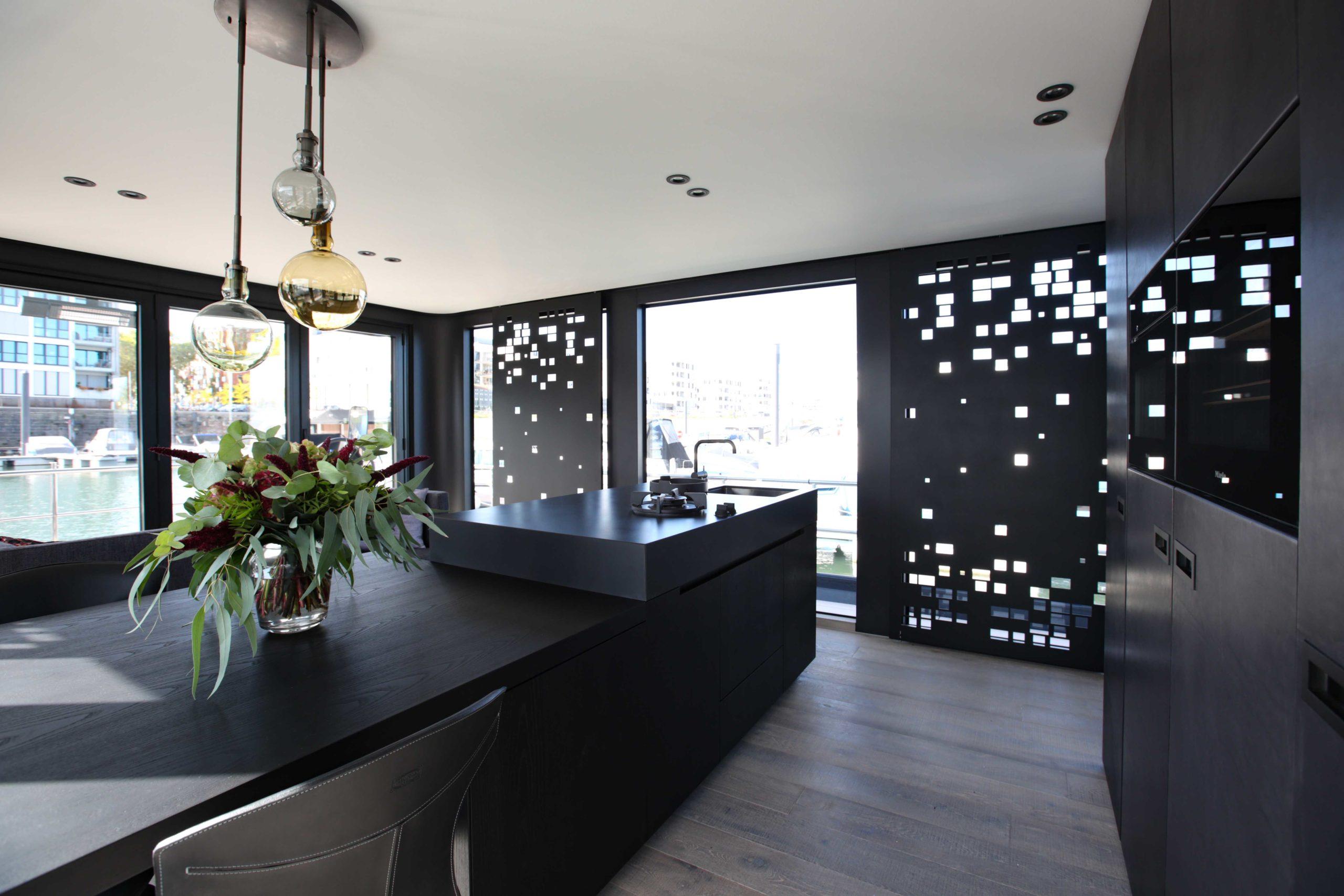 Perspektive Wohnen Kücheneinrichtung Onyx Hausboot Nobla Inneneinrichtung