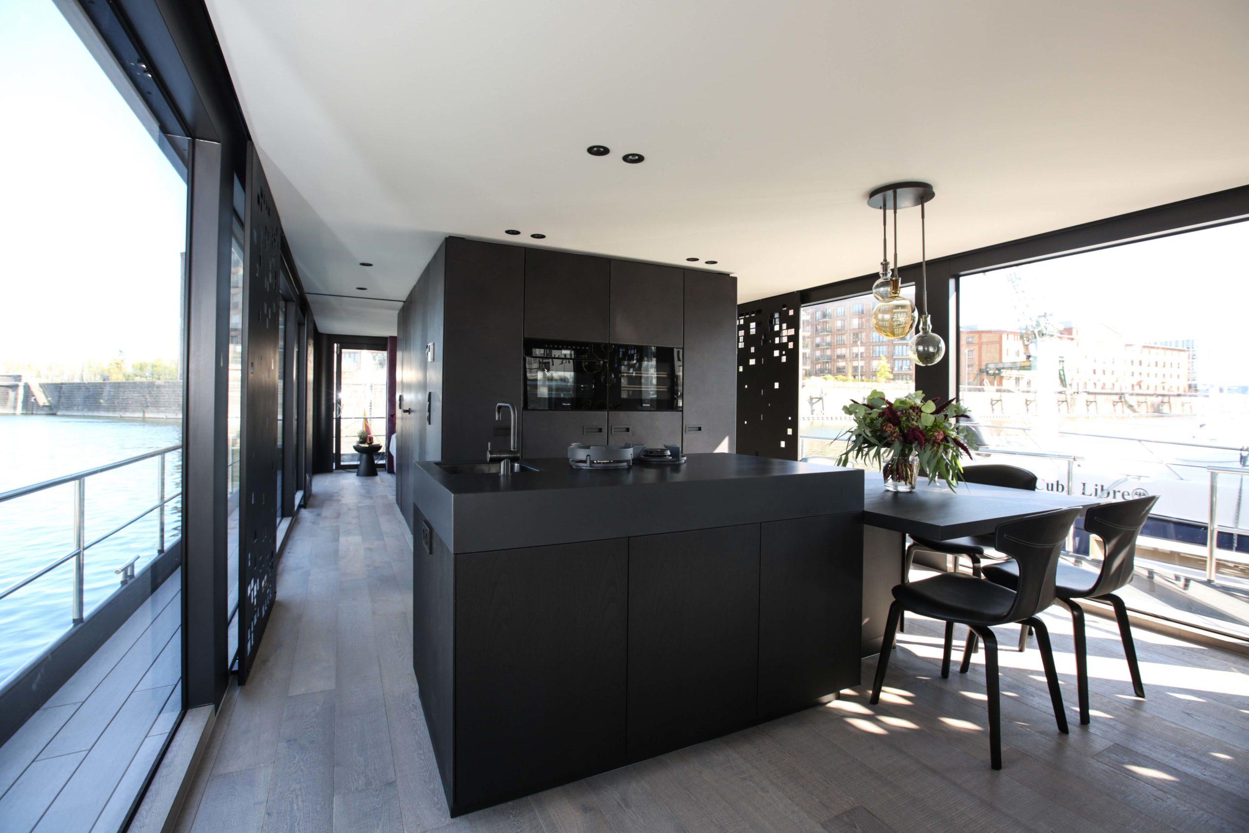 Moderne Küche Küchendesign Onyx Hausboot Nobla Raumgestaltung