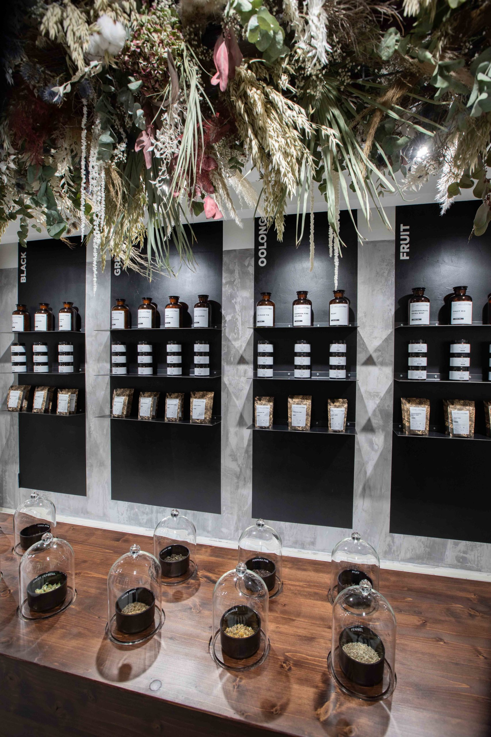 Innenausstattung Hellers Tea Shop Nobla Karlsruhe