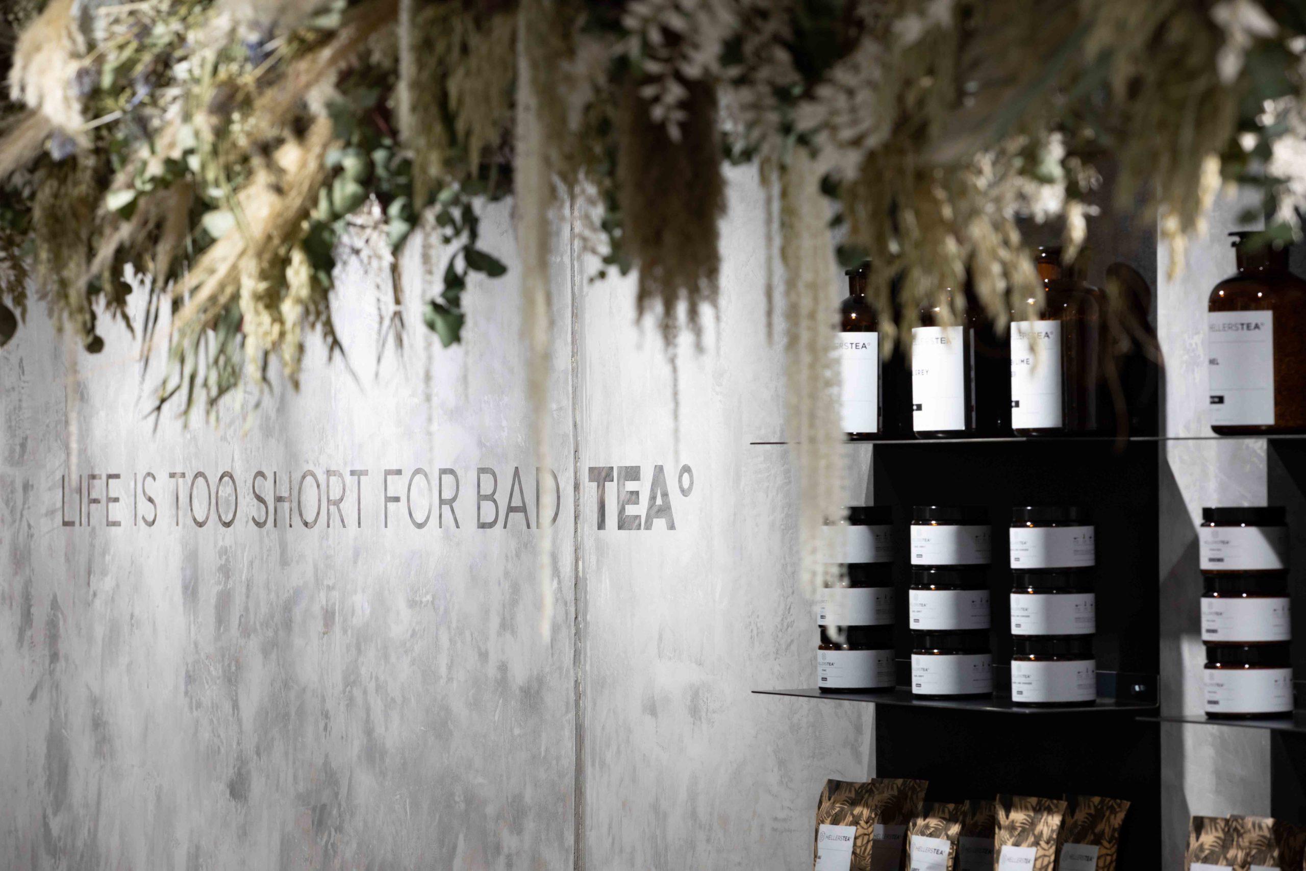 Hellers Tea Shop Innenausstattung Perspektive